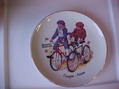 Norman Rockwell Collector Plates 6 inch. total of three.