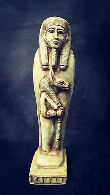 Rare Ancient Egyptian great statue with anubis(1500-1000 BC))