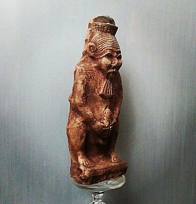 Rare Ancient Egyptian  BES  stone Statue (1500-1000 BC))
