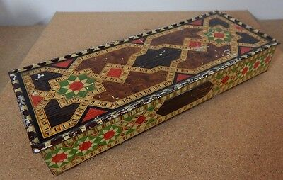 1931 Art Deco Huntley and Palmers Islamic design Glove Box Tin 28cmx11.5cmx5.5cm