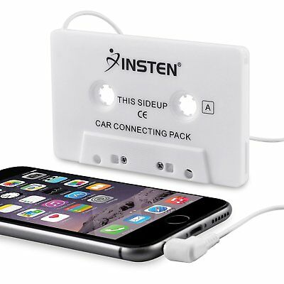 Insten Car Cassette Tape Deck Adapter Compatible with 3.5mm Jack Audio MP3/CD