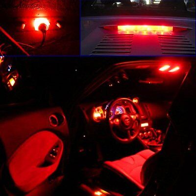 JDM ASTAR T10 Wedge 194 168 2825 Red 100Lm 6-SMD LED Signal Marker Lights Bulbs