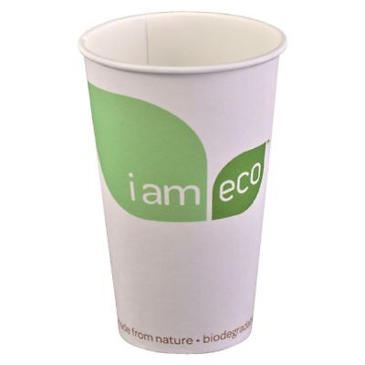 I am eco Paper Cups 473mL White 1000 Pack