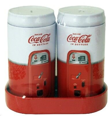 Coke Coca Cola Tin Salt & Pepper Shaker Set!
