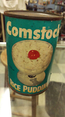 Unopened Vintage Can Comstock Rice Pudding Comstock Foods by Borden Company