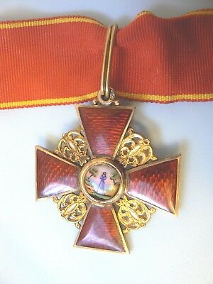 RUSSIA IMPERIAL ORDER OF ST ANNE ANNA , COMMANDER, gold, hallmarked, very rare