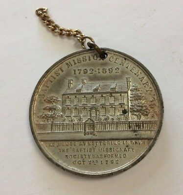 UK Baptist Mission Centenary Medal 1892 Kettering Africa India China West Indies