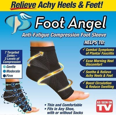 2 Sleeves PLANTAR FASCIITIS Foot Pain Compression Ankle Sock Angel Anti Fatigue