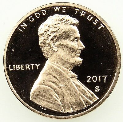 2017 S Deep Cameo Proof Lincoln Shield Cent Penny (B01)