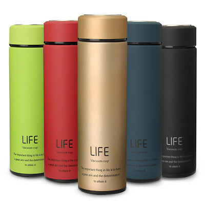 500ML Stainless Steel Water Tea Coffee Flask Vacuum Bottle Thermoses Travel Cup