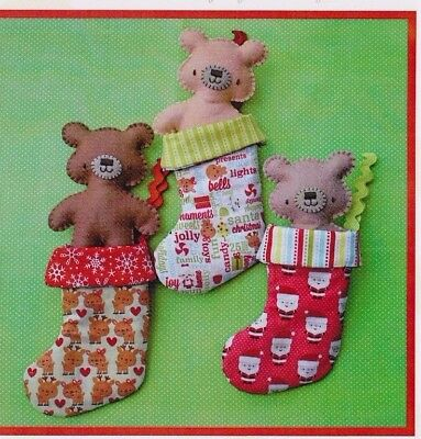 PATTERN - Beary Christmas - Creative Cards mini PATTERN - Two Brown Birds