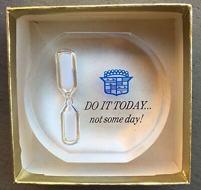 "Cadillac timer ""Do It Today"" advertising promotional item 2 3/4"" tall"