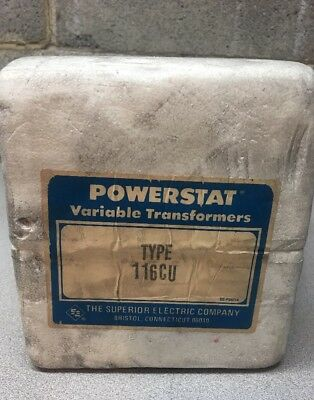 NEW Superior Powerstat Type 116CU Variable Transformer; In: 120V Out: 0-140V 10A