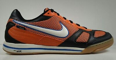 half off 07ff2 ceada Nike Mens Rare Air Gato 324784 811 Orange Black Indoor Court Soccer Shoes