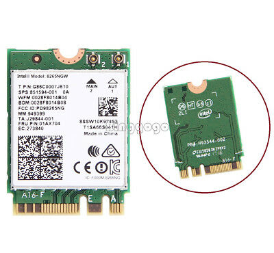 Intel Dual Band Wireless-AC 8265 NGFF 867Mbps WiFi + Bluetooth 4.2 802.11ac Card