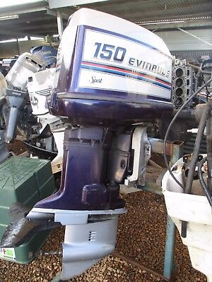 150 hp v6 Evinrude runs great long shaft outboard