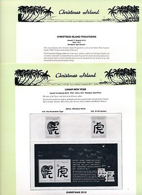 2010 Christmas Island Seven Seas Album Pages Used Good Condition NO STAMPS