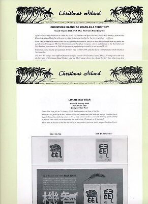 2008 Christmas Island Seven Seas Album Pages Used Good Condition NO STAMPS