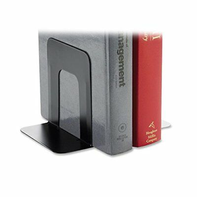 Bookends Black Heavy Duty Bookends with Smooth Edges Standard 1 Pair