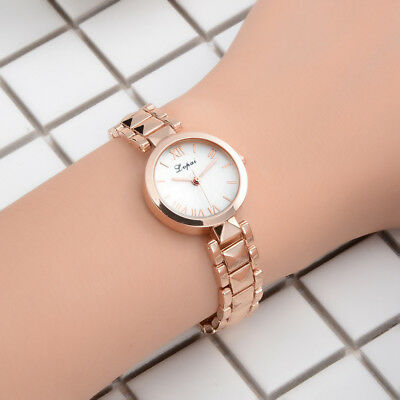 Fashion Women Roman Numbers Markers Analog Business Bracelet Wrist Watch Quality