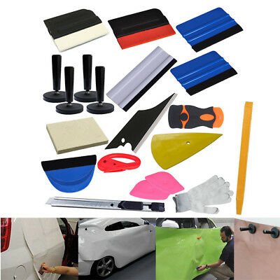 21pcs Car Wrap Applicator Installation Tools Kit  Squeegee Glove Vinyl cutter