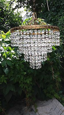 wonderful pair vintage  crystal chandeliers..pristine conditions..