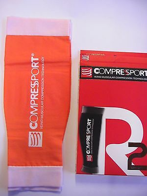 Manchons compression COMPRESSPORT R2 Orange neuf T4