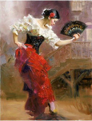 Pino Daeni,Hand-painted Portrait oil Painting On Canvas 24x32#76/Unframed