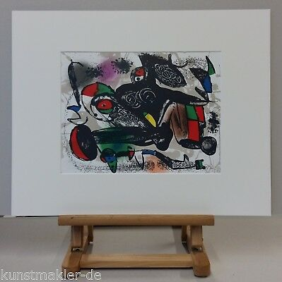 Joan MIRO (1893-1983) Original Lithographie 1981 - #1258 - Abstrakte Komposition