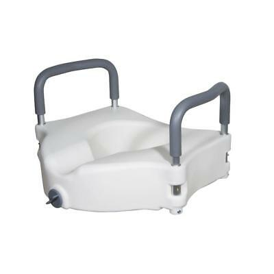Elevated Raised Toilet Seat Disability Aid Removable Padded Arms Portable Round