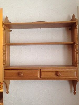 Ercol Wall Shelves With Drawers Design 1102