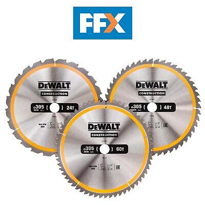 DeWalt DT1964 305mm 24/48/60T Series 30 Circular Saw Blade 3pk