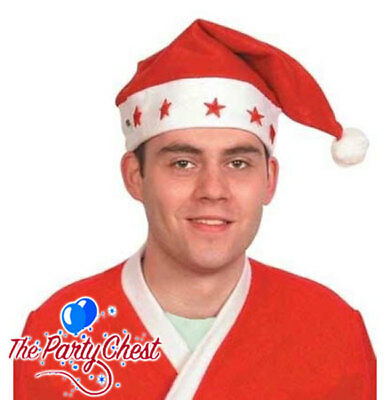 BUDGET CHRISTMAS SANTA HAT WITH LIGHTS AND SOUND Xmas Party Fun Light Hat H6552