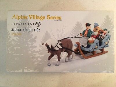 "Dept 56 Alpine Village ""Alpine Sleigh Ride"""