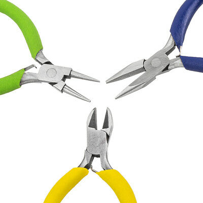 Beadsmith Colour ID 3 Piece Mini Jewellery Cushion Grip Plier Set (E38)