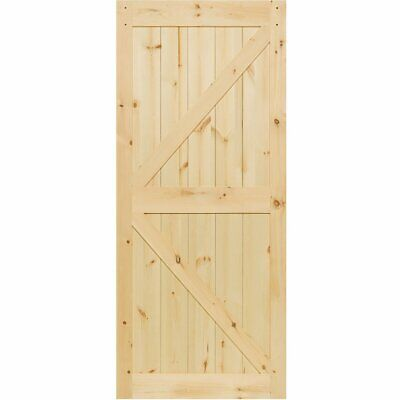 Barn Door Kimberly Bay® K-Rail Unfinished Solid Pine 83.5 in x 36 in