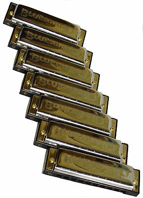 Hohner Seven Piece Blues Harmonica Set With Case