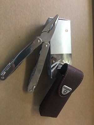 VICTORINOX SWISS ARMY Multi-Tool,10 Tools,27 Functions,4 In,SS, 53814