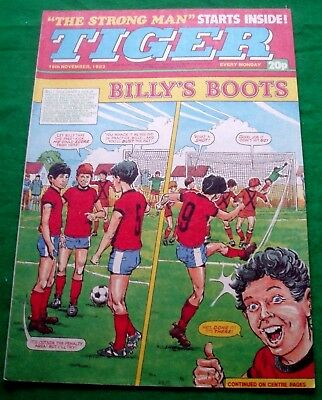 Tiger Comic 1983  With A Great   Leeds United   F.c.  Colour Poster Page