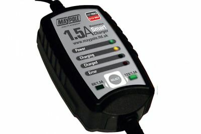 Maypole 1.5A Maintenance Smart Charger Car Vehicle Battery 6V/12V Lead-Agm