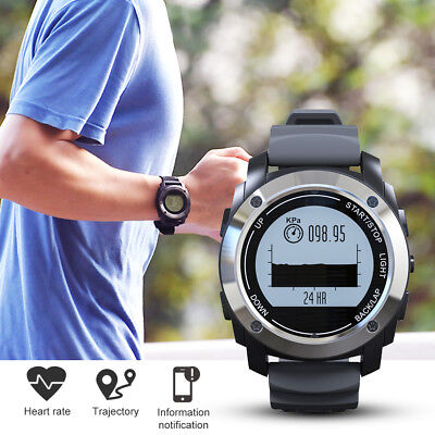 GPS Real-time Heart Rate Monitor Smart Watch Running Waterproof Outdoor Sports