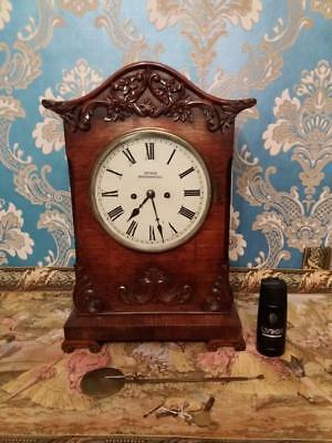 Victorian Rosewood Double Fusee Repeater Bracket Clock (51 cm high)