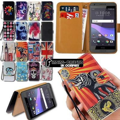 For HTC Desire Mobile Phones - Leather Wallet Stand Magnetic Flip Case Cover