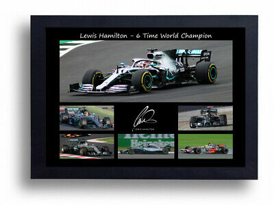 Signed Lewis Hamilton 2019 Multiple F1 World Champion Autographed Print