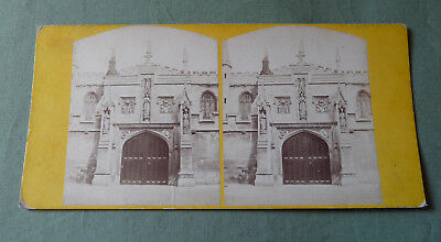 Stereoview_Magdalen College Gateway_Oxford_England XIX c.