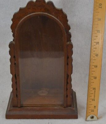 display exhibit box hand made glass front grain painted  antique original