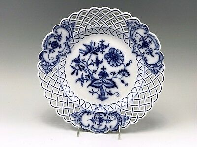 "Meissen Blue Onion Reticulated Rim 11-1/2"" Plate"