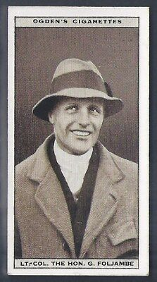 Ogdens-Steeplechase Celebrities-#14- Top Quality Horse Racing Card!!!