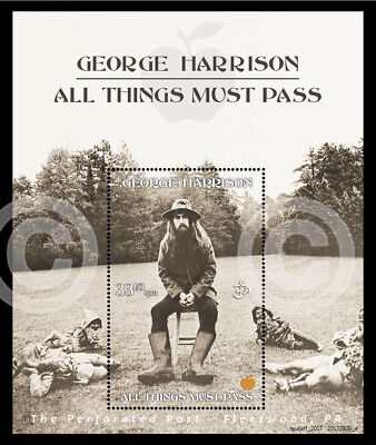 George Harrison - All Things Must Pass - (Cinderella, Artistamp, Faux Postage)
