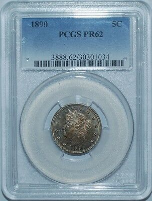 1890 PCGS PR62 Liberty V Nickel Proof Strike